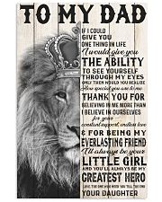 LION - TO MY DAD 16x24 Poster front