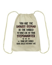 Happy Father's Day - Best gift for stepdad Drawstring Bag tile