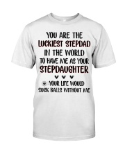 Happy Father's Day - Best gift for stepdad Classic T-Shirt tile