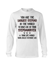 Happy Father's Day - Best gift for stepdad Long Sleeve Tee tile