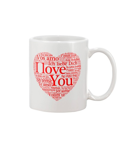 I LOVE YOU IN LANGUAGES MUG