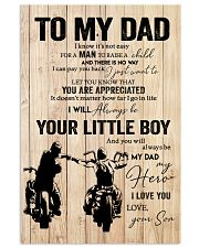 TO MY DAD BIKER POSTER 16x24 Poster front