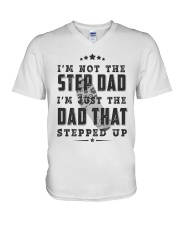 BEST GIFT FOR STEPDAD - putting up with mom - stfd V-Neck T-Shirt tile
