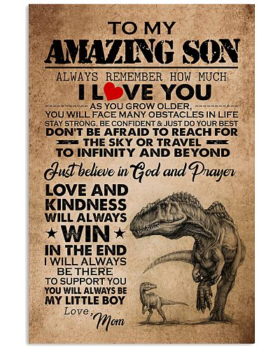 TO MY AMAZING SON I LOVE YOU - MOM