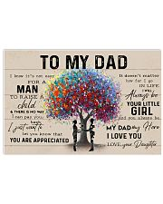 COLORFUL TREE - DAD AND DAUGHTER 24x16 Poster front