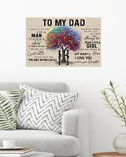 COLORFUL TREE - DAD AND DAUGHTER 24x16 Poster poster-landscape-24x16-lifestyle-01