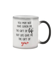 Great gift for stepdad - the gift of life Color Changing Mug tile
