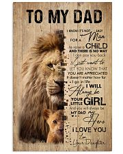 LION DAD AND DAUGHTER 16x24 Poster front
