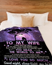 """TO MY WIFE YOU MEAN THE WORLD TO ME Large Fleece Blanket - 60"""" x 80"""" aos-coral-fleece-blanket-60x80-lifestyle-front-02"""