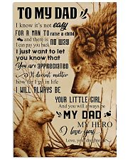 TO MY DAD - NOT EASY FROM DAUGHTER 16x24 Poster front