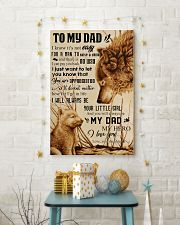 TO MY DAD - NOT EASY FROM DAUGHTER 16x24 Poster lifestyle-holiday-poster-3