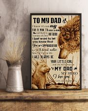 TO MY DAD - NOT EASY FROM DAUGHTER 16x24 Poster lifestyle-poster-3