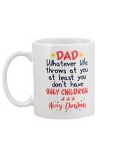 Ugly Children Christmas Mug Gift For Dad Mug back
