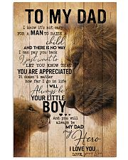 TO MY DAD - EASY LION FROM SON 16x24 Poster front