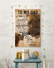 TO MY DAD - EASY LION FROM SON 16x24 Poster lifestyle-holiday-poster-3