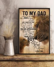 TO MY DAD - EASY LION FROM SON 16x24 Poster lifestyle-poster-3