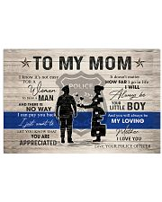 TO MY MOM - POLICE MOM 24x16 Poster front