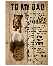 REFLECTION - DAD AND DAUGHTER 16x24 Poster front