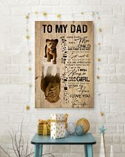 REFLECTION - DAD AND DAUGHTER 16x24 Poster lifestyle-holiday-poster-3