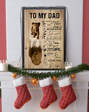 REFLECTION - DAD AND DAUGHTER 16x24 Poster lifestyle-holiday-poster-4
