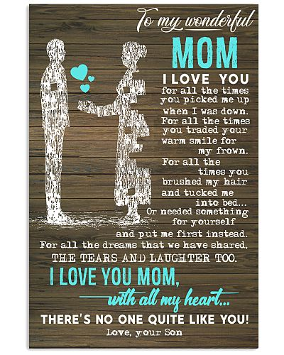 TO MY WONDERFUL - YOUR SON MOM