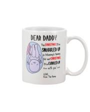 Dear Daddy 3 Xmas Mug front