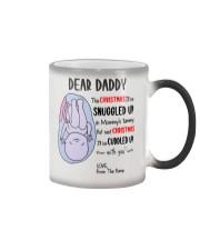 Dear Daddy 3 Xmas Color Changing Mug tile