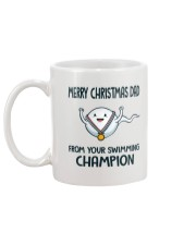 MERRY CHRISTMAS DAD FROM YOUR SWIMMING CHAMPION Mug back
