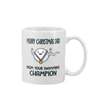 MERRY CHRISTMAS DAD FROM YOUR SWIMMING CHAMPION Mug front