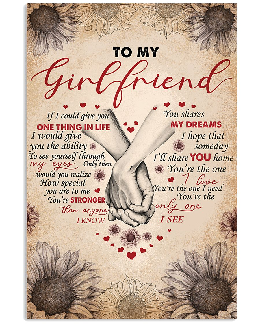 TO MY GIRLFRIEND 16x24 Poster