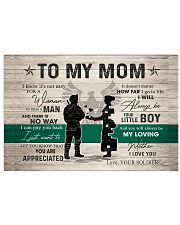TO MY MOM - SOLDIER MOM 24x16 Poster front