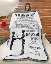 "MEINEN VATER - NICHT LEICHT  Large Sherpa Fleece Blanket - 60"" x 80"" aos-sherpa-fleece-blanket-60x80-lifestyle-front-11"