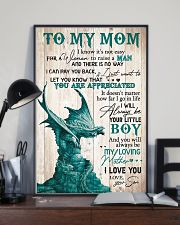 To my mom I know It's not easy 11x17 Poster lifestyle-poster-2