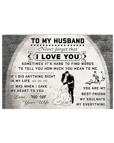 TO MY HUSBAND I LOVE YOU