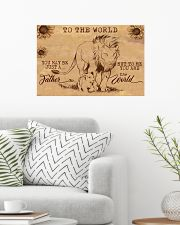 TO MY DAD - YOU ARE THE WORLD 24x16 Poster poster-landscape-24x16-lifestyle-01