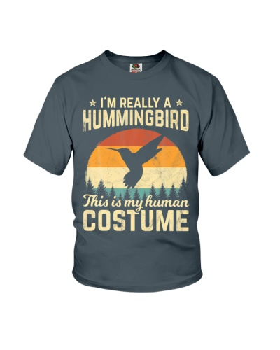 Silhouette Hummingbird Halloween Costume Retro